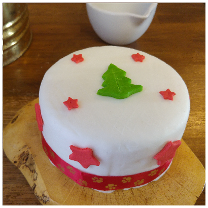 Woof's Honey & Vanilla Sponge Christmas Cake